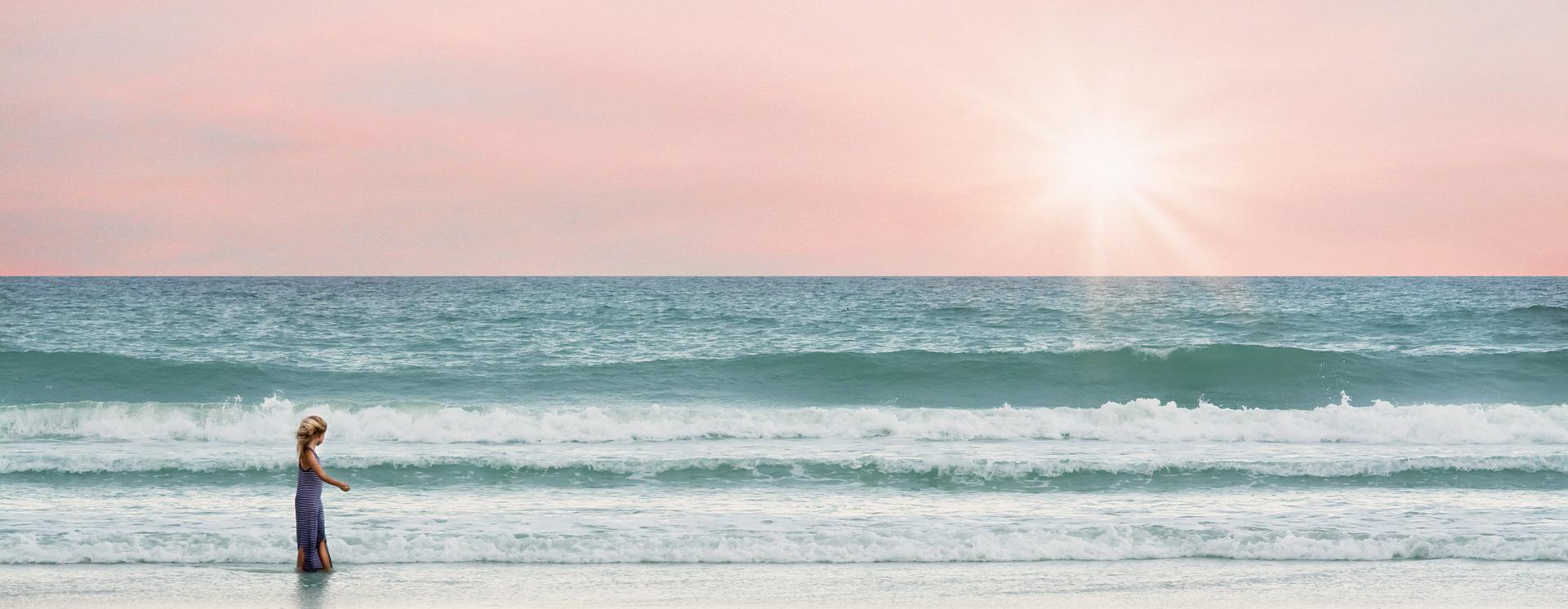 beautiful pink beach