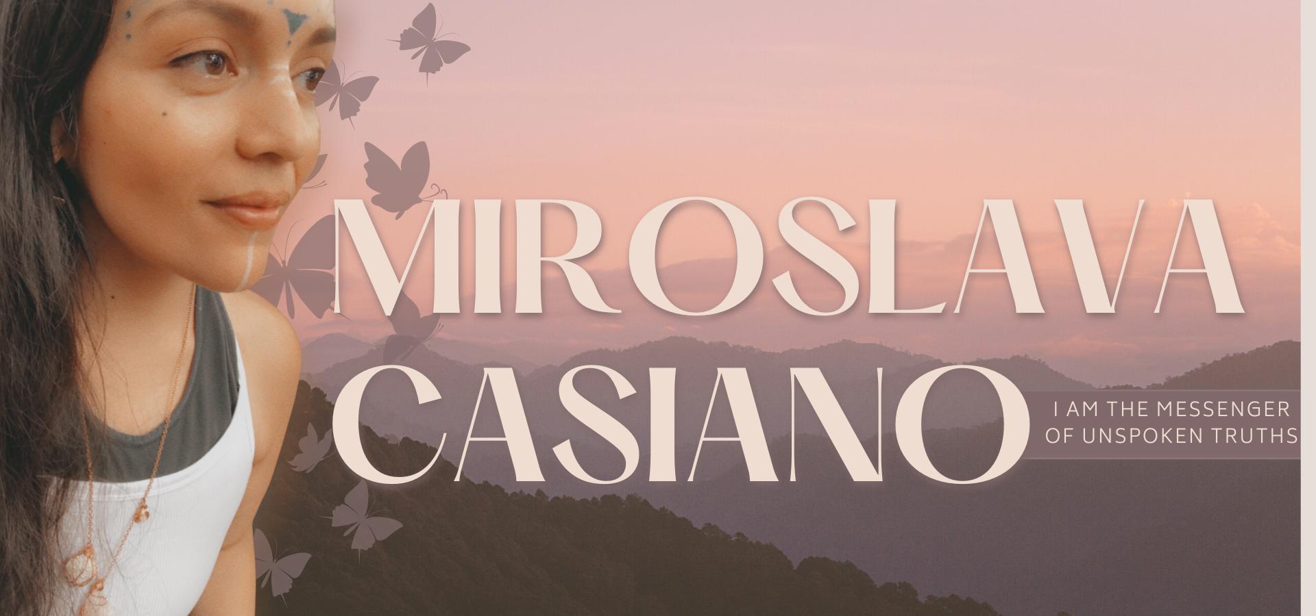 Miroslava Casiano website banner