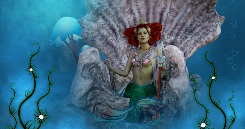 Red Head Mermaid
