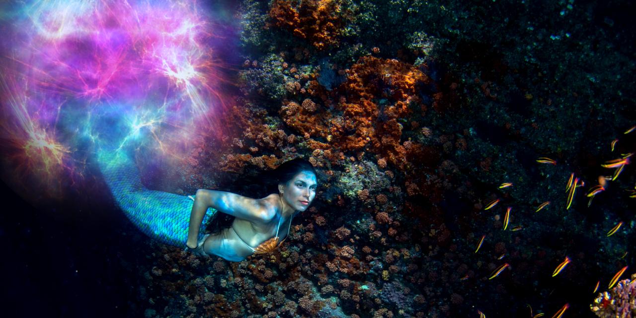 Mermaid and Underwater Portal