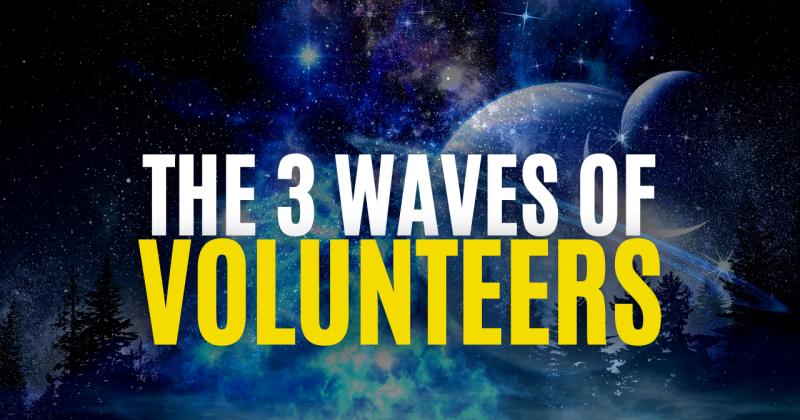 the 3 waves of volunteers